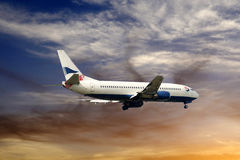 Beautiful Blue Sky_Aircraft_Holidays_Travel_Clouds Stock Photo