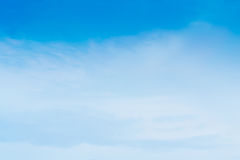 Beautiful Blue Sky Background Template With Some Space for Input. Text Message Royalty Free Stock Image