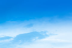 Beautiful Blue Sky Background Template With Some Space for Input. Text Message Royalty Free Stock Photography