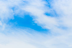 Beautiful Blue Sky Background Template With Some Space for Input. Text Message Royalty Free Stock Photos