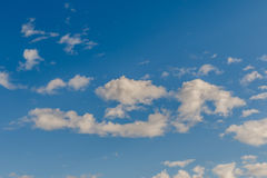 Beautiful of Blue sky background with tiny clouds. Stock Images