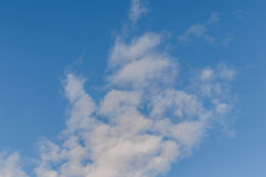Beautiful of Blue sky background with tiny clouds. Stock Photos