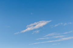 Beautiful of Blue sky background with tiny clouds. Royalty Free Stock Image