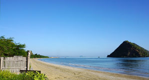 Beautiful blue sky beach at Pranburi, Thailand Royalty Free Stock Photos