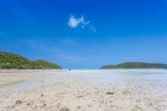 Beautiful blue sky on the beach Stock Photo