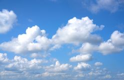 Beautiful blue sky. With clouds Stock Photo