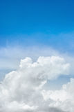 Beautiful blue sky and beautiful cloud as background texture Royalty Free Stock Images