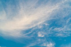 A beautiful blue sky. A bright,beautiful blue sky and cloud royalty free stock image