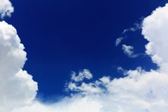 Beautiful Blue Sky and Bright White Clouds in Southeast Asia Stock Photos
