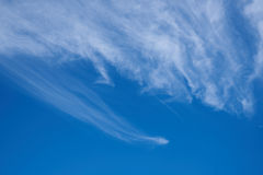 He beautiful blue sky cirrus clouds Stock Image