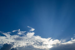 Beautiful blue sky and cloud. Beautiful blue sky with closeup white cloud Stock Photo