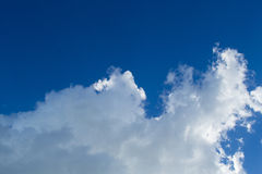 Beautiful blue sky and cloud. Beautiful blue sky with closeup white cloud Royalty Free Stock Photography