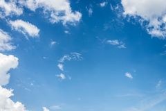 Beautiful blue sky with cloud and copy space.  royalty free stock photo