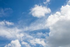 Beautiful blue sky with cloud and copy space.  royalty free stock photos