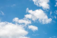 Beautiful blue sky with cloud and copy space.  stock image