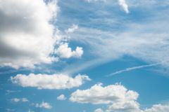 Beautiful blue sky with cloud and copy space.  royalty free stock photography