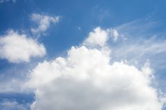 Beautiful blue sky with cloud and copy space.  royalty free stock images
