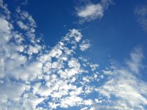 Simple Photo Beautiful Blue Sky with cloud in the morning. Beautiful Blue Sky with cloud in the morning stock photo