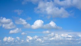 Beautiful blue sky. With clouds Royalty Free Stock Photography