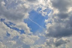 Beautiful Blue Sky with Clouds Stock Images