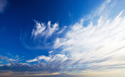 Beautiful blue sky with clouds Royalty Free Stock Image