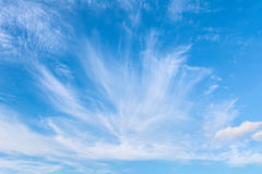 Beautiful blue sky with clouds. Abstract background stock images