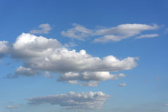 Beautiful blue sky with clouds Stock Image