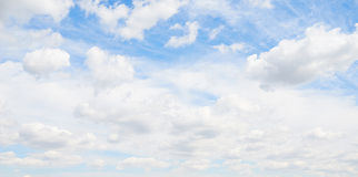 Beautiful blue sky with clouds Stock Photography