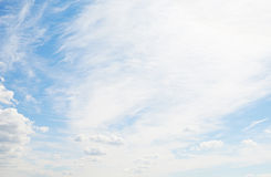 Beautiful blue sky with clouds Royalty Free Stock Photography
