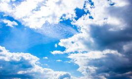 Beautiful blue sky with clouds. Background Stock Images