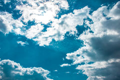 Beautiful blue sky with clouds. Background Royalty Free Stock Photo