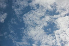 Beautiful blue sky royalty free stock photography