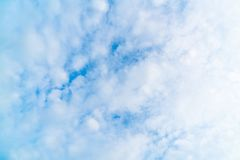 Beautiful blue sky and clouds. For background royalty free stock photo