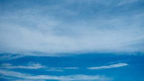 White clouds in blue sky background Stock Photography