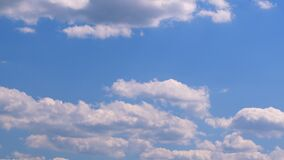 Beautiful blue sky with clouds background. Timelapse.