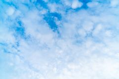 Beautiful blue sky and clouds. For background stock photography
