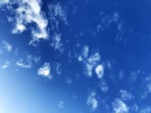Beautiful Blue sky and Clouds . Natural light on holiday. Looking to the sky stock images