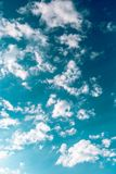 Beautiful blue sky  with clouds. Sky background Stock Photography