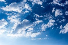 Beautiful blue sky  with clouds. Sky background Royalty Free Stock Photography