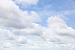 Beautiful blue sky with clouds. Can be used as background royalty free stock photography