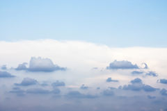 Beautiful Blue Sky and Clouds. Beautiful and clear blue sky with cloud that look like whale shape stock image
