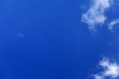 Beautiful blue sky with clouds at nice day Stock Images