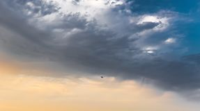 Beautiful blue sky with clouds royalty free stock photos