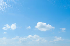 Beautiful Blue sky with clouds Stock Photos