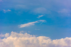 Beautiful blue sky with clouds. Beautiful blue sky with white clouds curly Royalty Free Stock Images