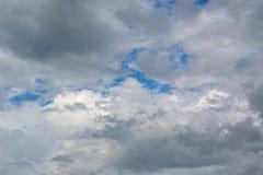 Beautiful blue sky with cumulus clouds. Beautiful blue sky with a cumulus clouds Royalty Free Stock Image