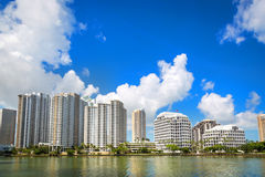 Beautiful blue sky day in Miami in Florida Stock Images
