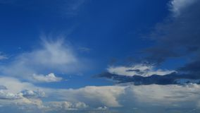 Beautiful blue sky with different clouds.  stock photos