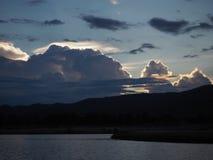 Beautiful blue sky evening sunset Stock Photography