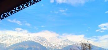 Beautiful blue sky Himachal Pradesh. India royalty free stock photo